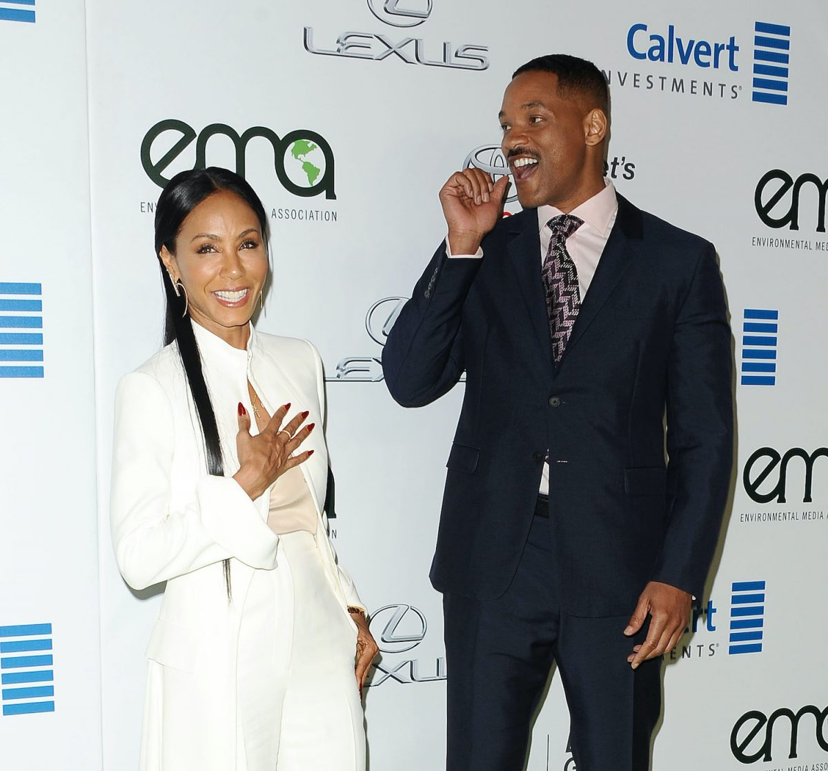 Jada Pinkett Smith and Will Smith attend the 26th annual EMA Awards at Warner Bros. Studios on October 22, 2016