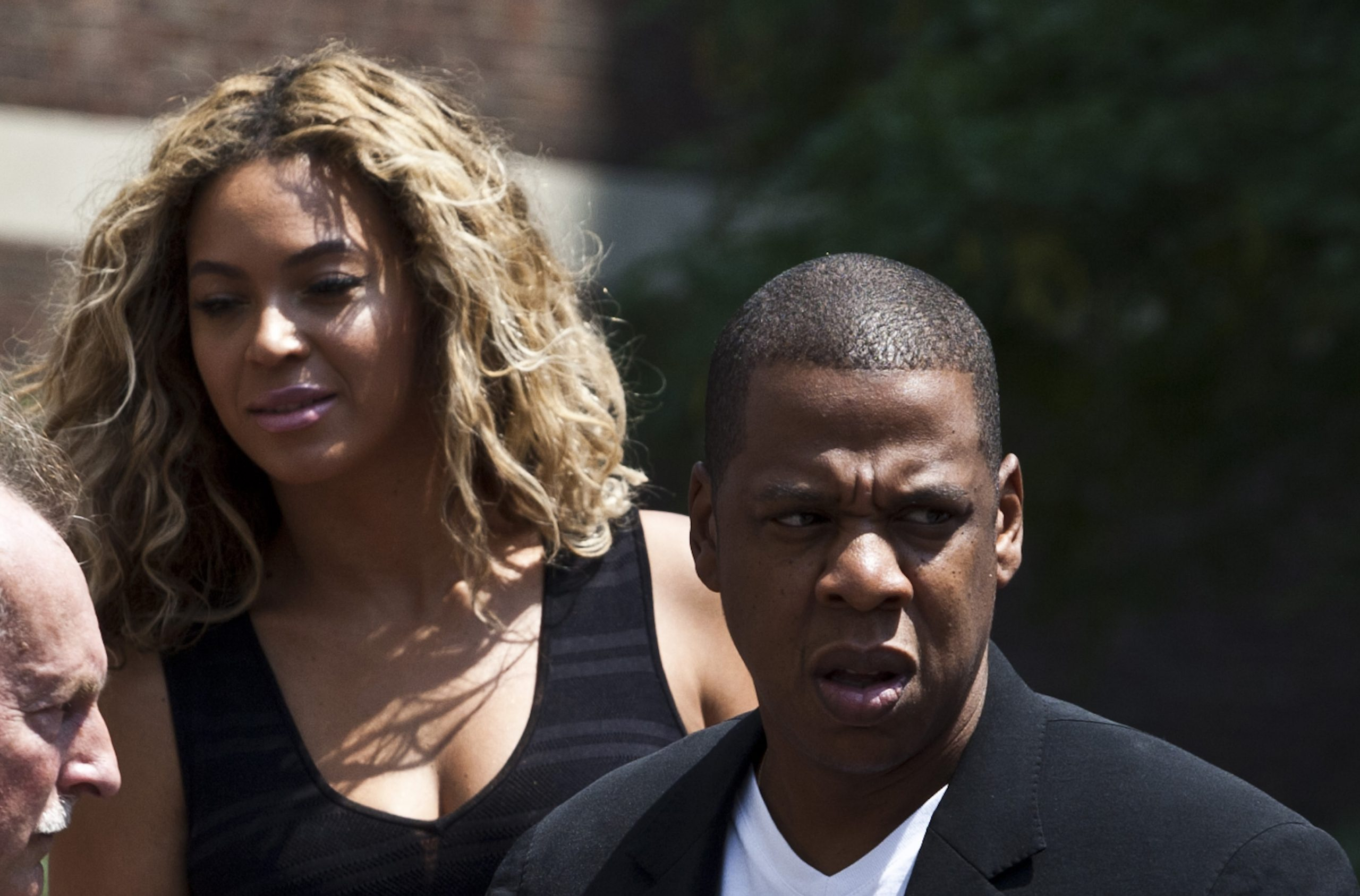 Jay-Z and Beyonce at Trayvon Martin Rally