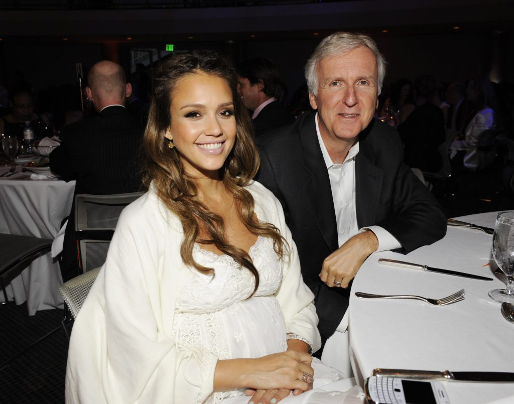 Jessica Alba and James Cameron attend the Covenant House California Awards Dinner: A Magical Night Of Hope at Skirball Cultural Center on June 9, 2011 in Los Angeles, California.