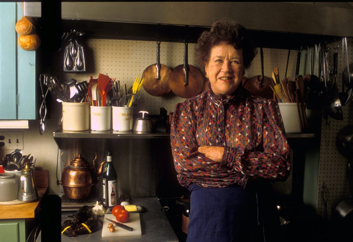 Celebrity chef Julia Child