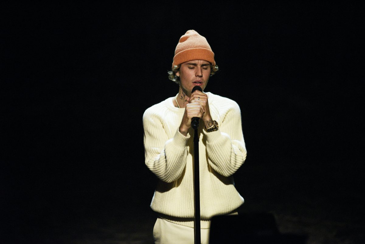 Justin Bieber performs on stage