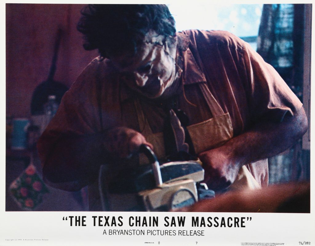 Leatherface with a chain saw