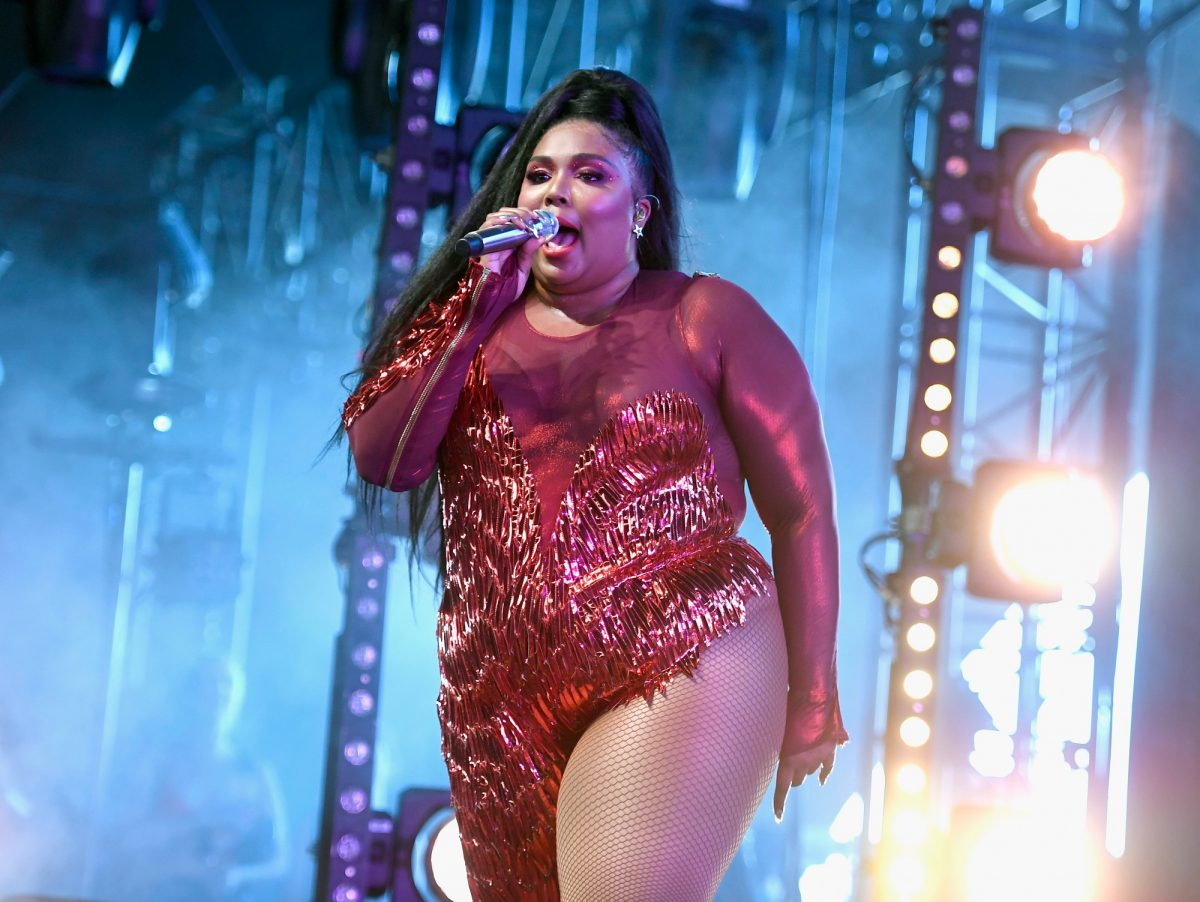 Lizzo performs at Mojave Tent during the 2019 Coachella Valley Music And Arts Festival on April 21, 2019 in Indio, California.