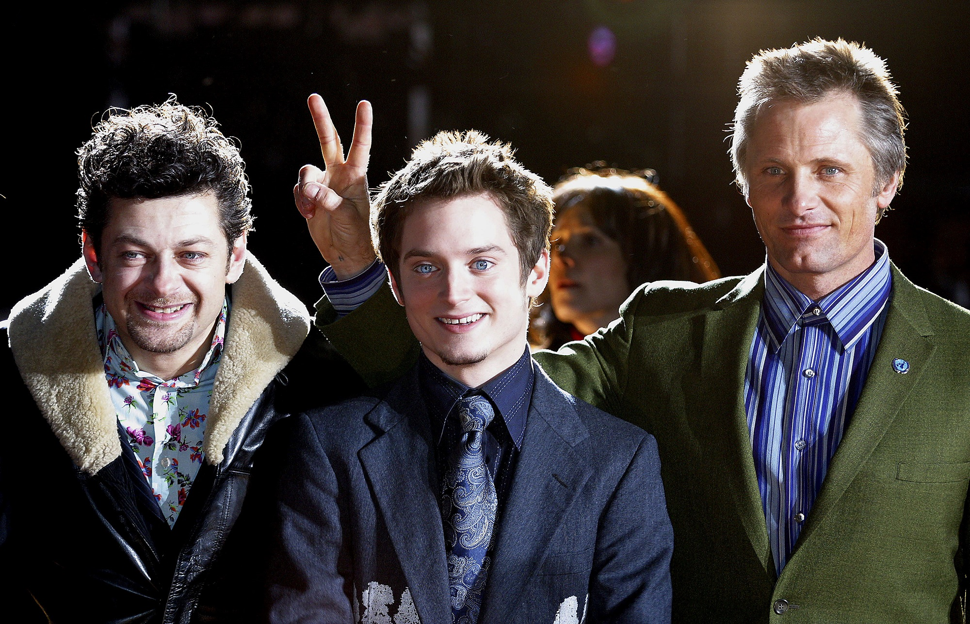 Andy Serkis, Elijah Wood, and Viggo Mortensen of Lord of the Rings
