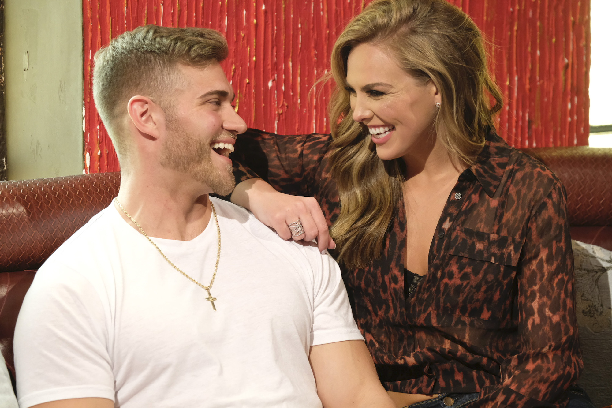 Luke Parker (aka Luke P) and Hannah Brown on 'The Bachelorette' in 2019.