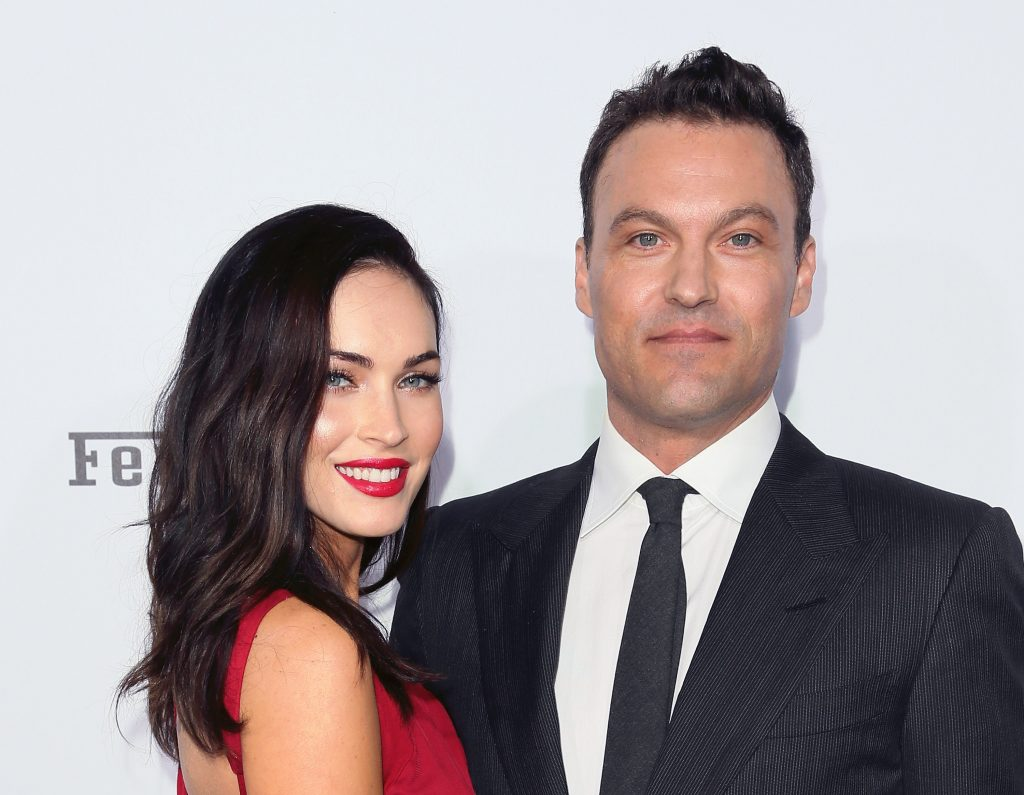 Megan Fox (L) and Brian Austin Green attend Ferrari's 60th Anniversary in the USA Gala at the Wallis Annenberg Center for the Performing Arts on October 11, 2014 in Beverly Hills, California.