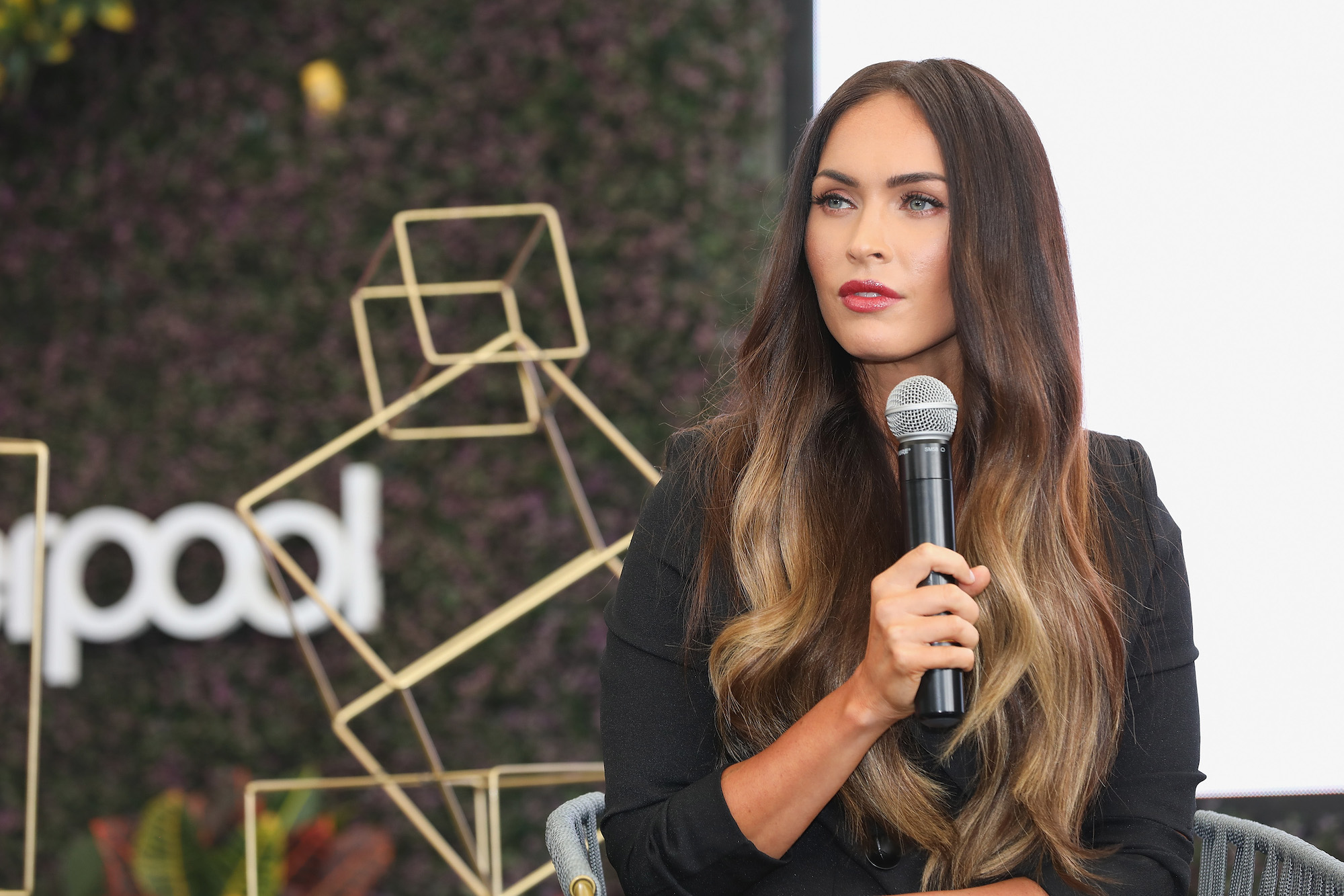Megan Fox at a press conference during the Liverpool Fashion Fest Autumn/Winter 2017 at Liverpool Insurgentes on September 6, 2017.