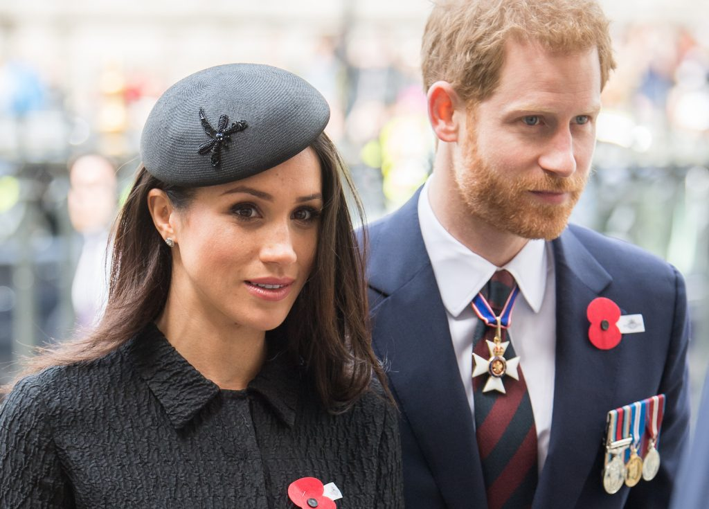 Prince Harry and Meghan Markle attend the Anzac Day service at Westminster Abbey on April 25, 2018 in London, England