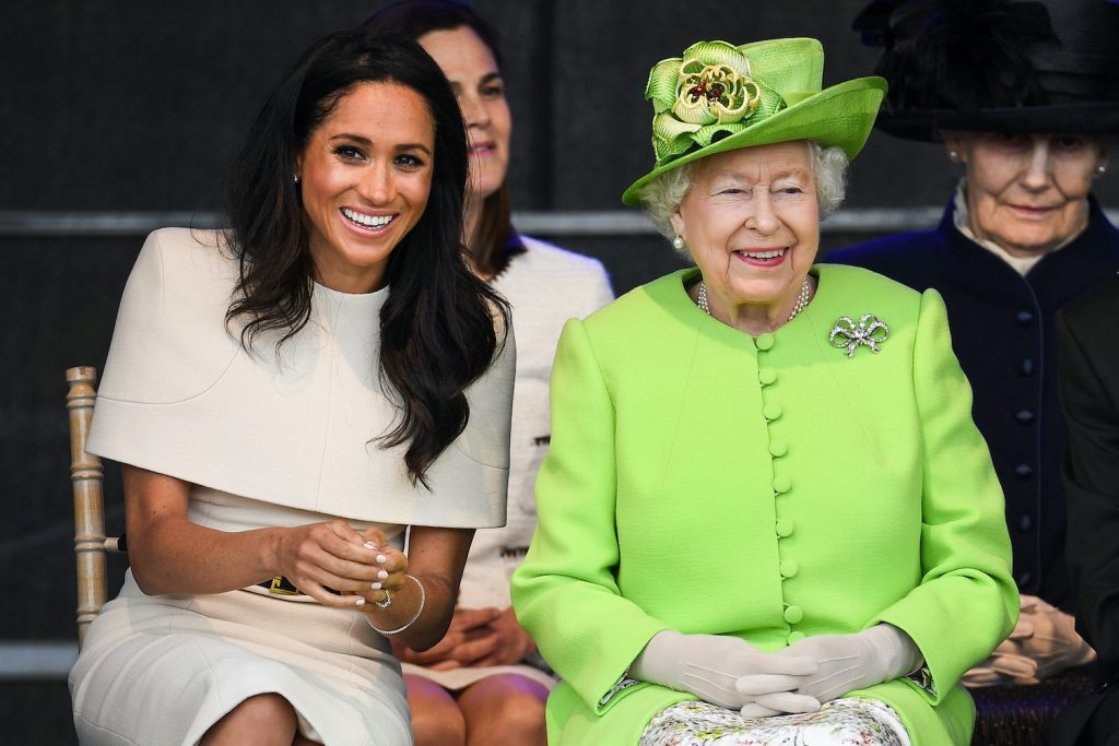 Meghan Markle and Queen Elizabeth attend a ceremony to open the new Mersey Gateway Bridge on June 14, 2018