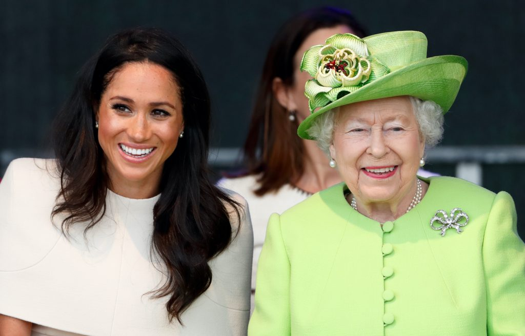 Meghan Markle and Queen Elizabeth II attend a ceremony to open the new Mersey Gateway Bridge on June 14, 2018