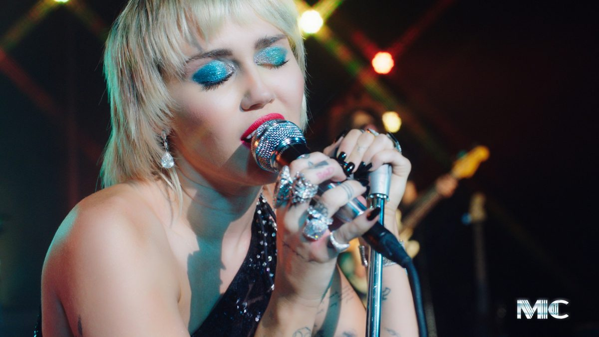 Miley Cyrus performs on September 10, 2020
