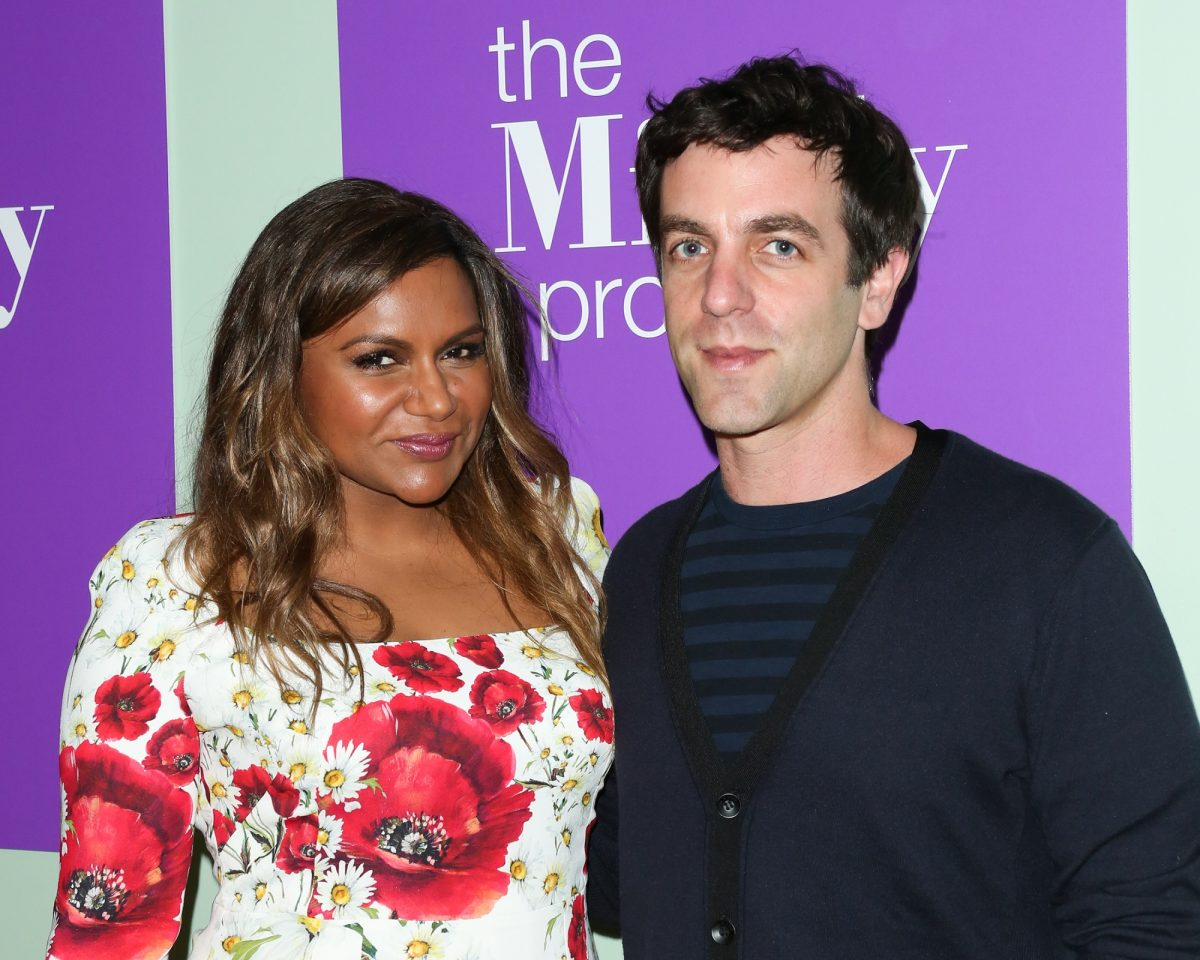 Mindy Kaling (L) and B.J. Novak (R) attend the FYC panel for 'The Mindy Project' on June 8, 2016