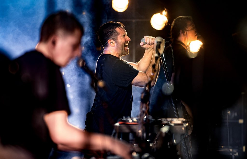 Nine Inch Nails on stage