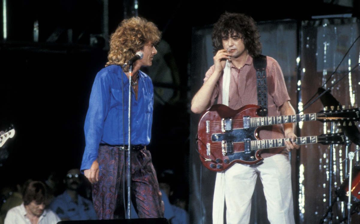 Plant and Page at Live Aid 1985