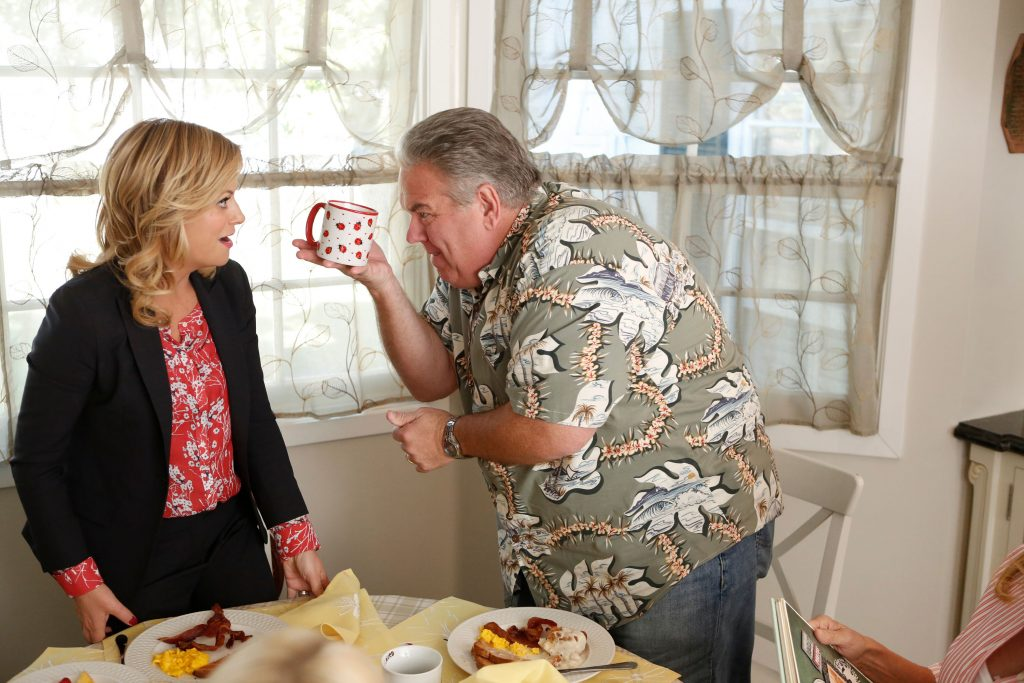 (l-r) Amy Poehler as Leslie Knope and Jim O'Heir as Jerry Gergich in 'Parks and Recreation'
