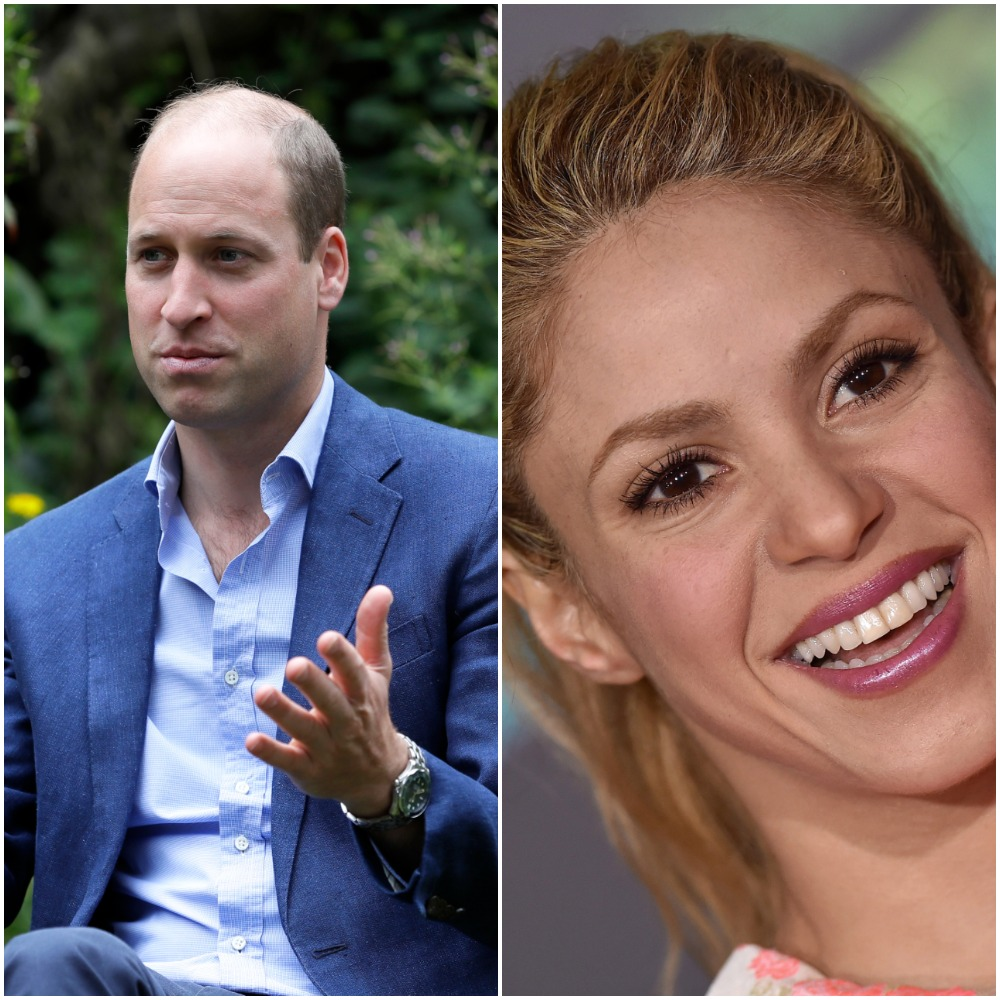 Left to right: Prince William and Shakira