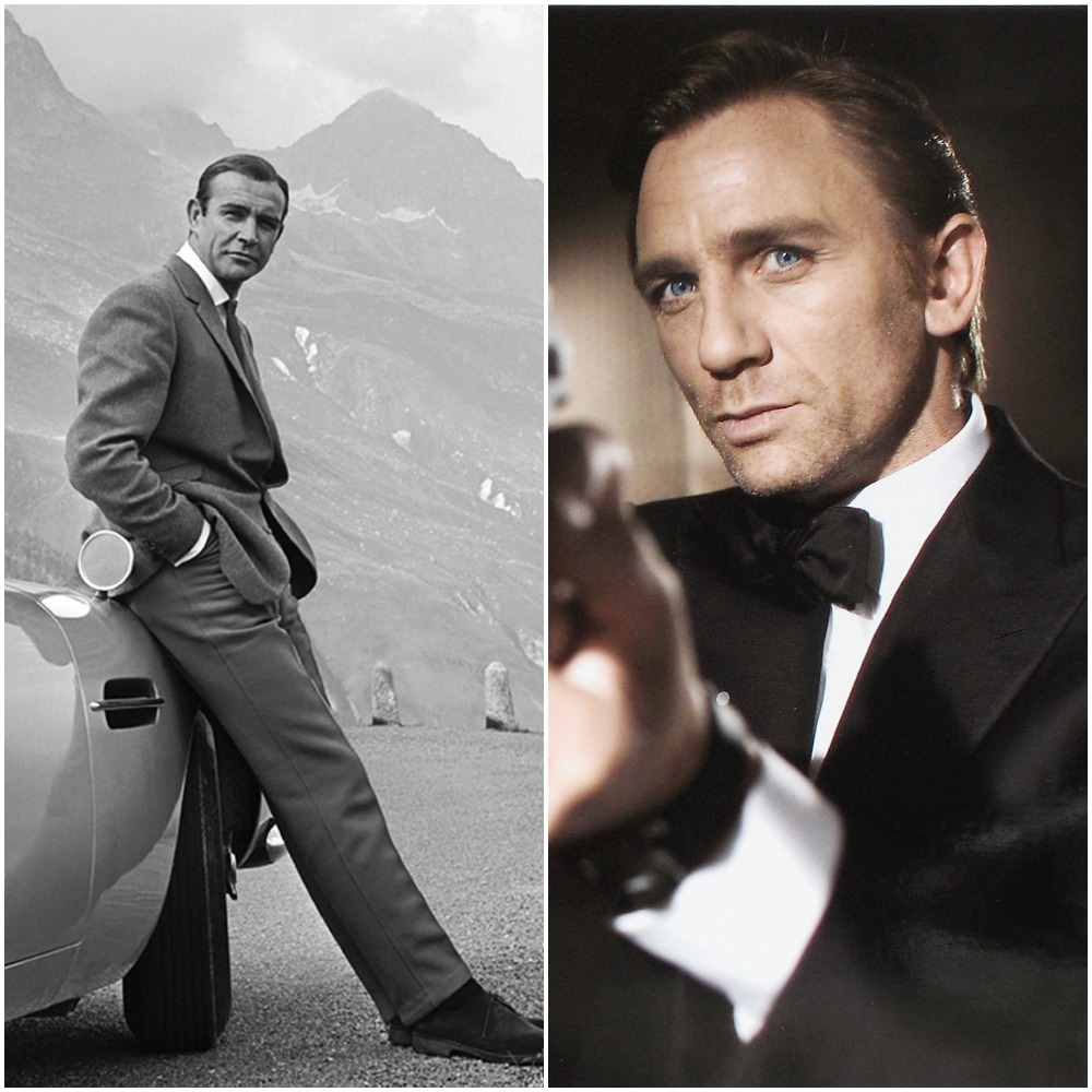 Past and present James Bond: From left to right, the late Sean Connery and Daniel Craig