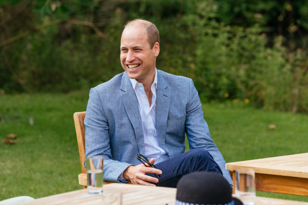 Prince William speaks to four representatives from organisations which will benefit from the Royal Foundation's £1.8 Million fund to support frontline workers and the nation's mental health at the Sandringham Estate