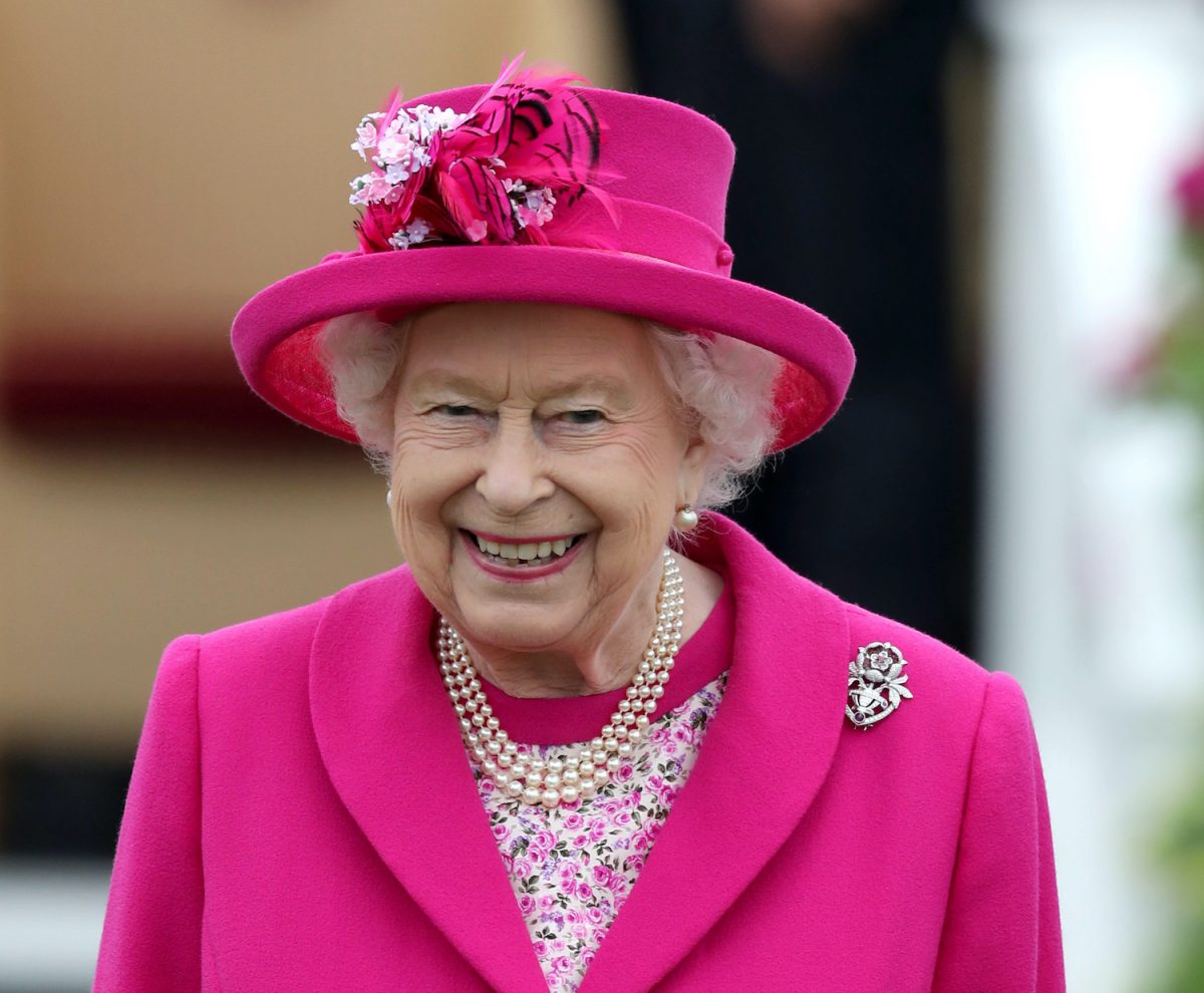 Queen Elizabeth II during the OUT-SOURCING Inc Royal Windsor Cup at the Guards Polo Club