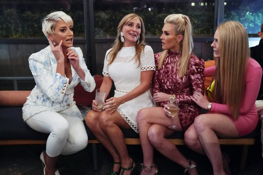 The cast of 'RHONY' during a season 12 scene