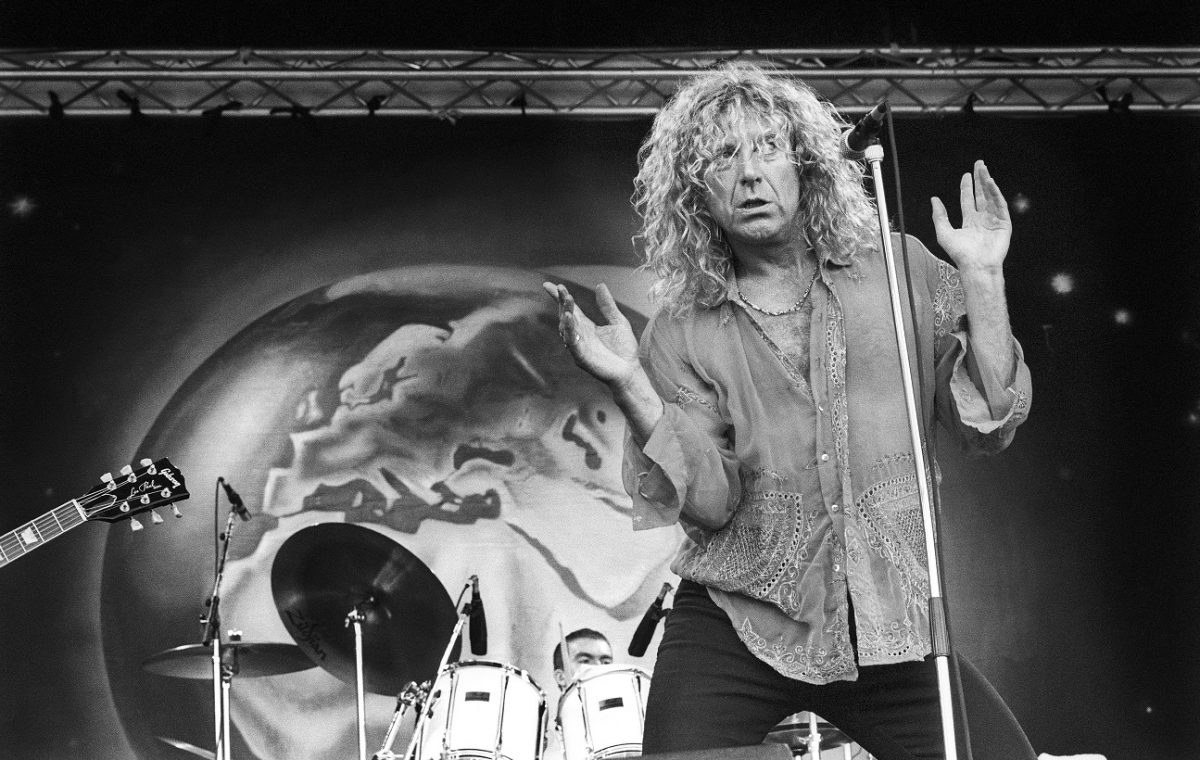 Robert Plant performs in 1993.