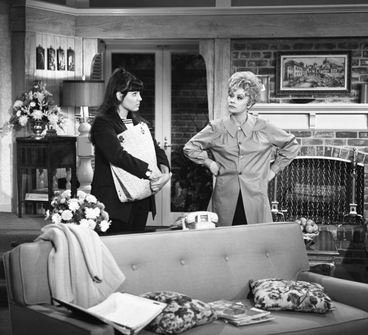 Lucie Arnaz and Lucille Ball in 'Here's Lucy'