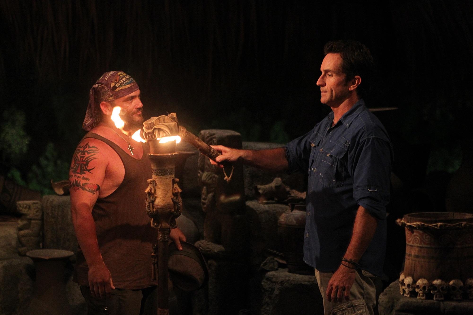 Russell Hantz and Jeff Probst of Survivor -- is Russell Hantz a good 'Survivor' player?
