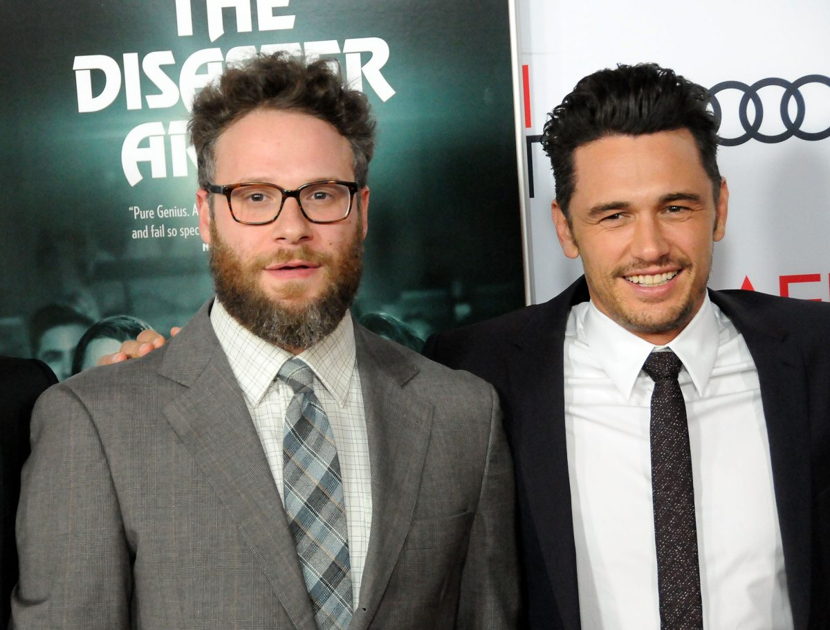 Seth Rogen and James Franco attend AFI FEST 2017 screening of 'The Disaster Artist' on November 12, 2017, in Hollywood, California.