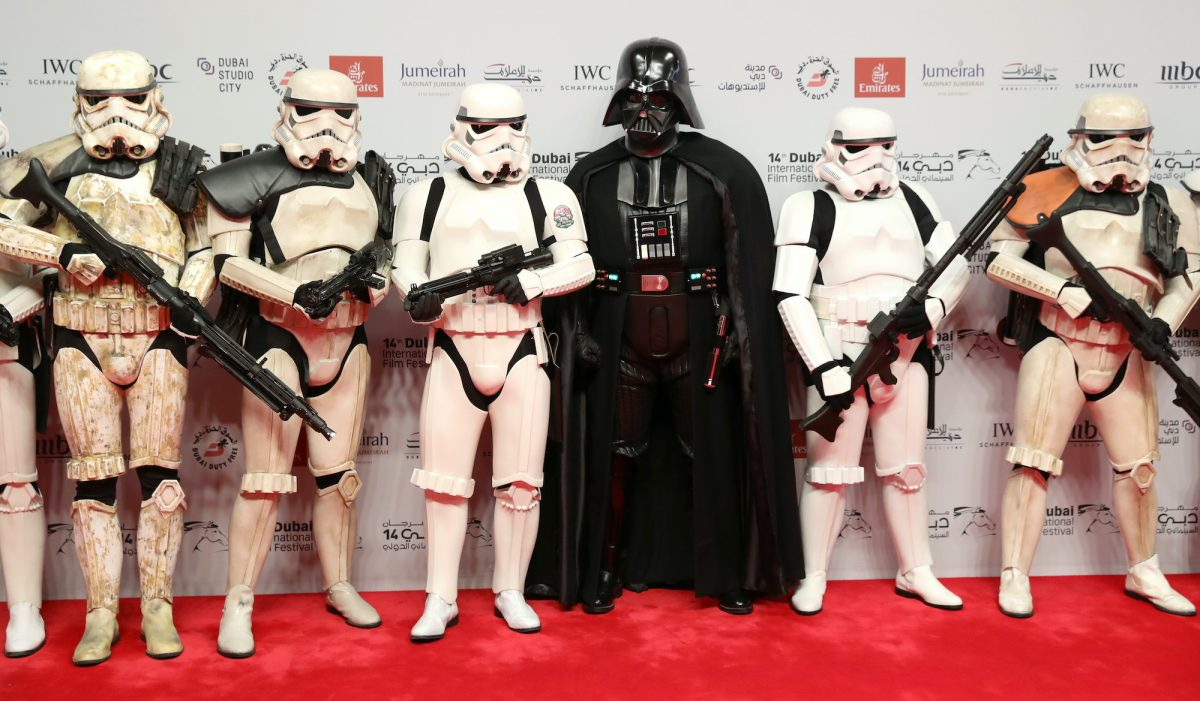 Darth Vader and Stormtoopers