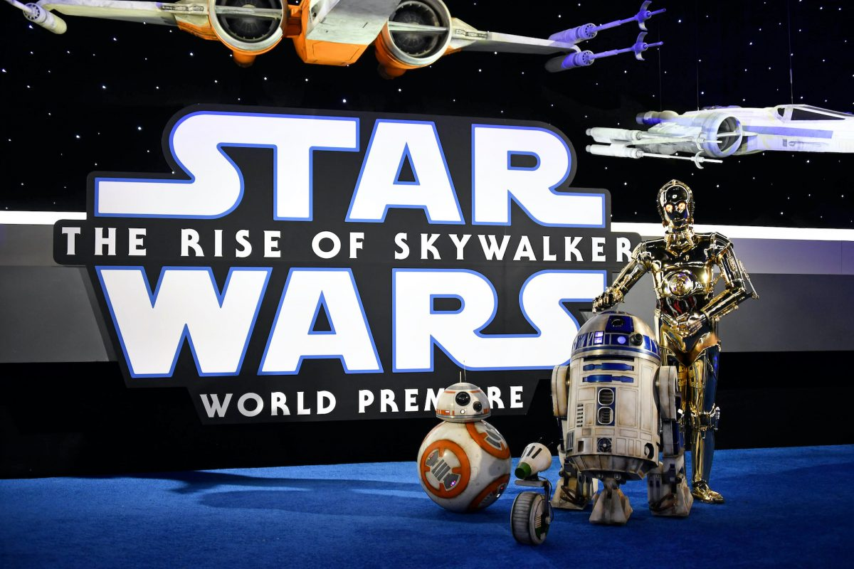 BB-8, R2-D2, and C-3PO arrive for the World Premiere of 'Star Wars: The Rise of Skywalker'