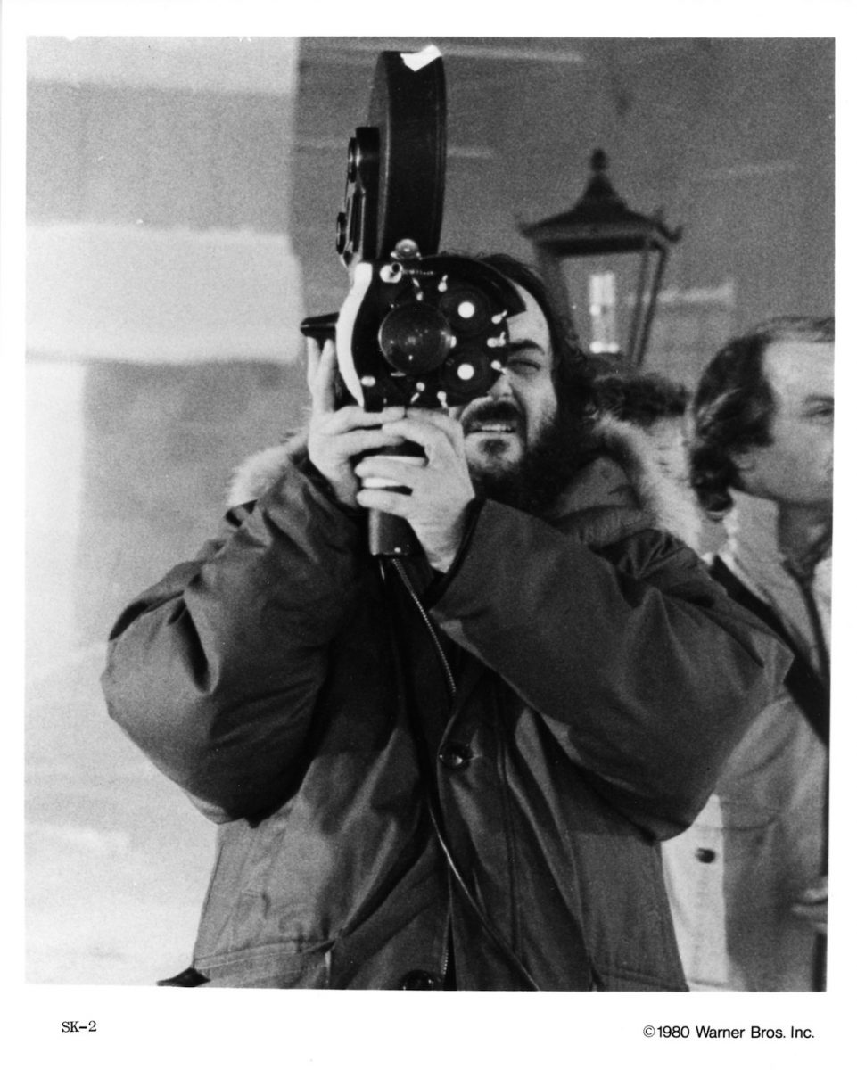 Director Stanley Kubrick on the set of the Warner Bros movie 'The Shining' in 1980
