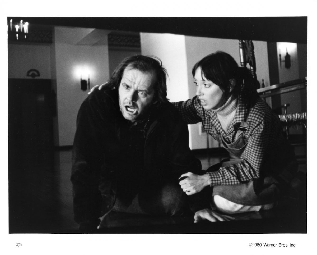Actors Jack Nicholson and Shelley Duvall in a scene from the movie 'The Shining'