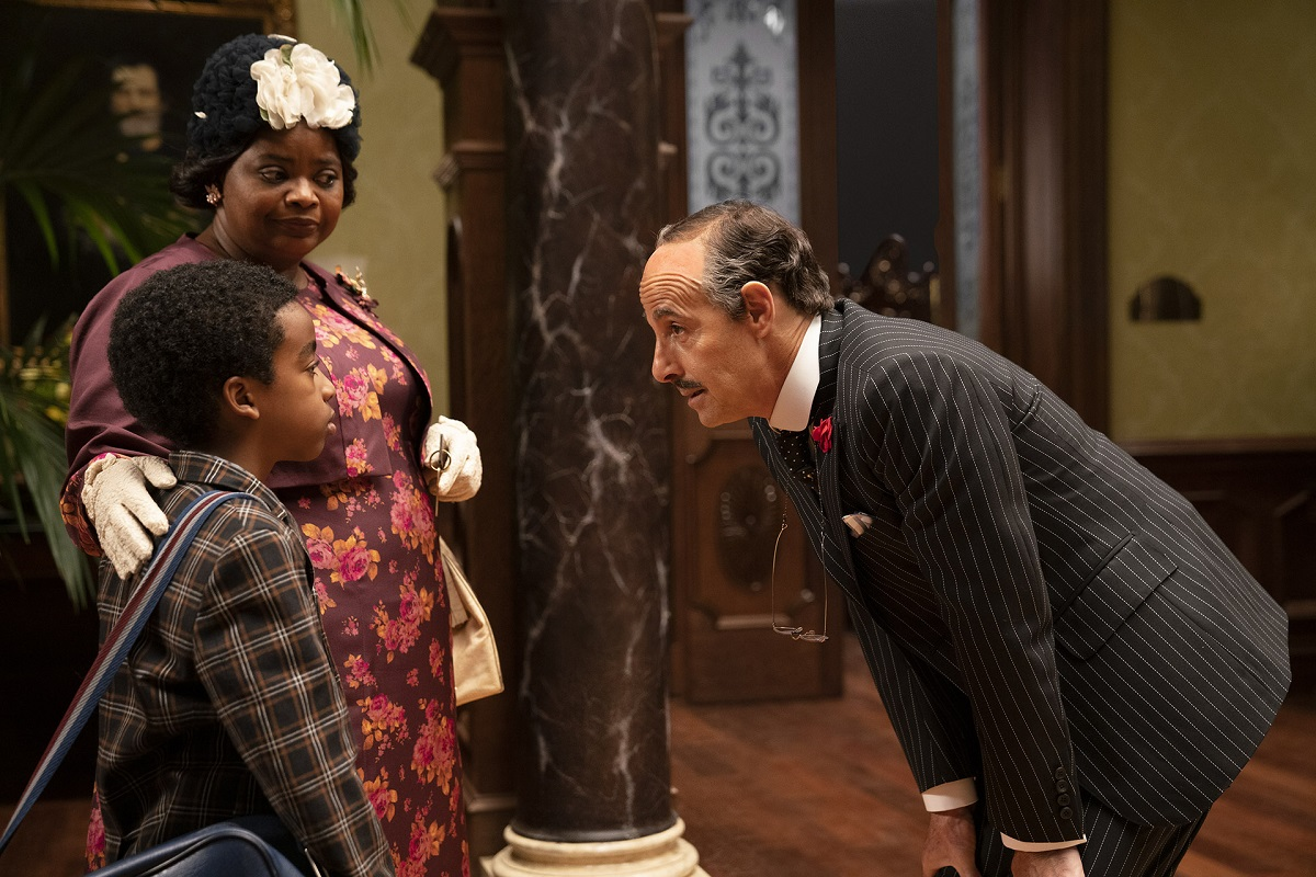 Octavia Spencer as Grandma and Stanley Tucci as Mr. Stringer in 'The Witches'