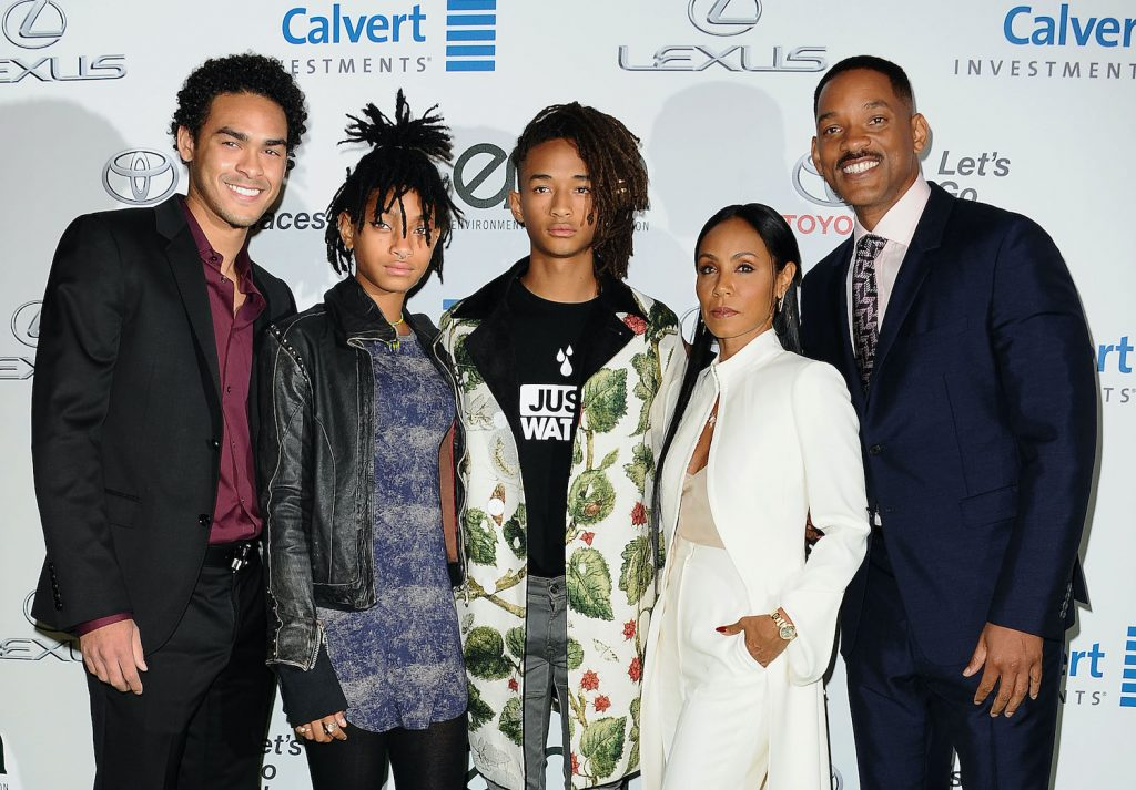 Will Smith and family attends the 26th annual EMA Awards in 2016