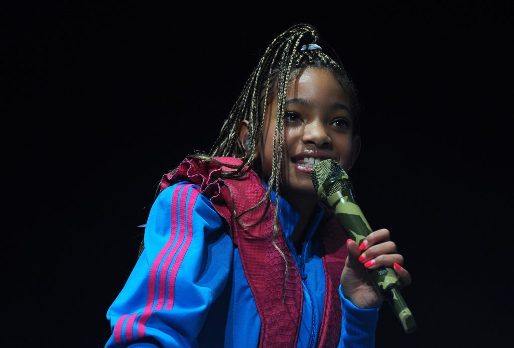 Willow Smith with a microphone