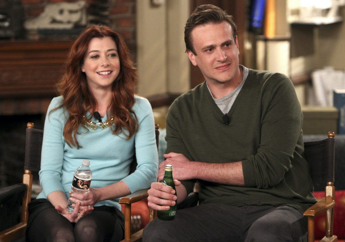 Alyson Hannigan and Jason Segel during a TCA press conference