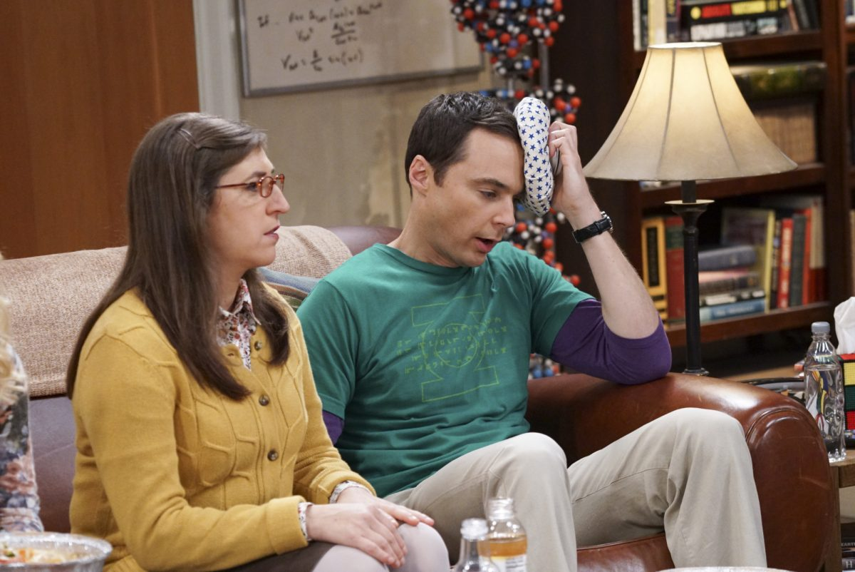 Mayim Bialik as Amy Farrah Fowler appears with Jim Parsons as Sheldon Cooper in 'The Big Bang Theory'