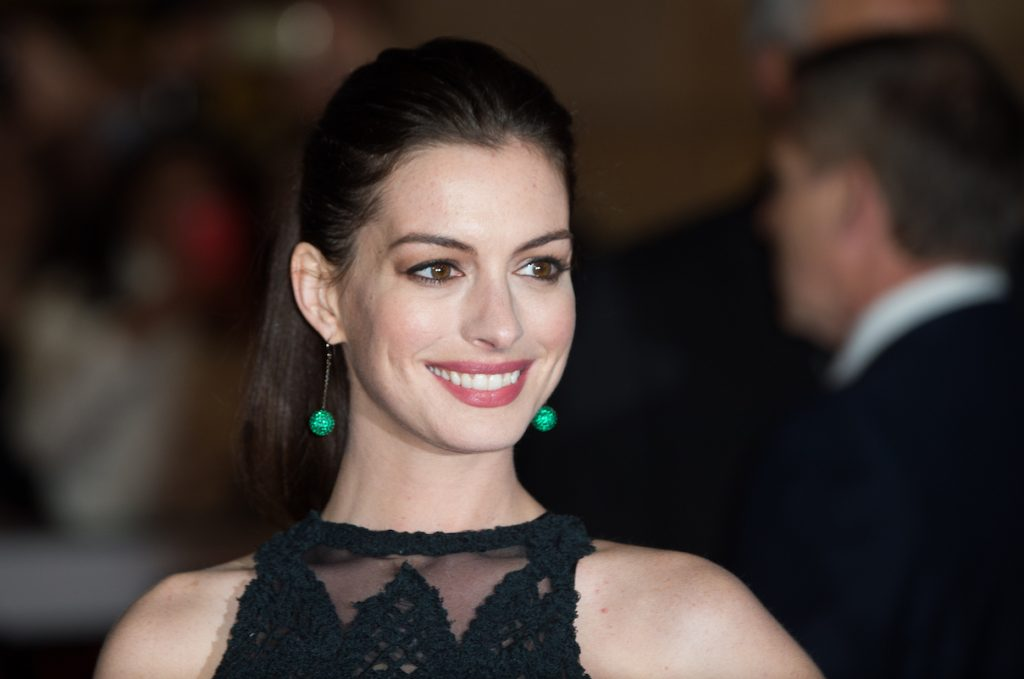 Anne Hathaway at the U.K. premiere of 'The Intern'
