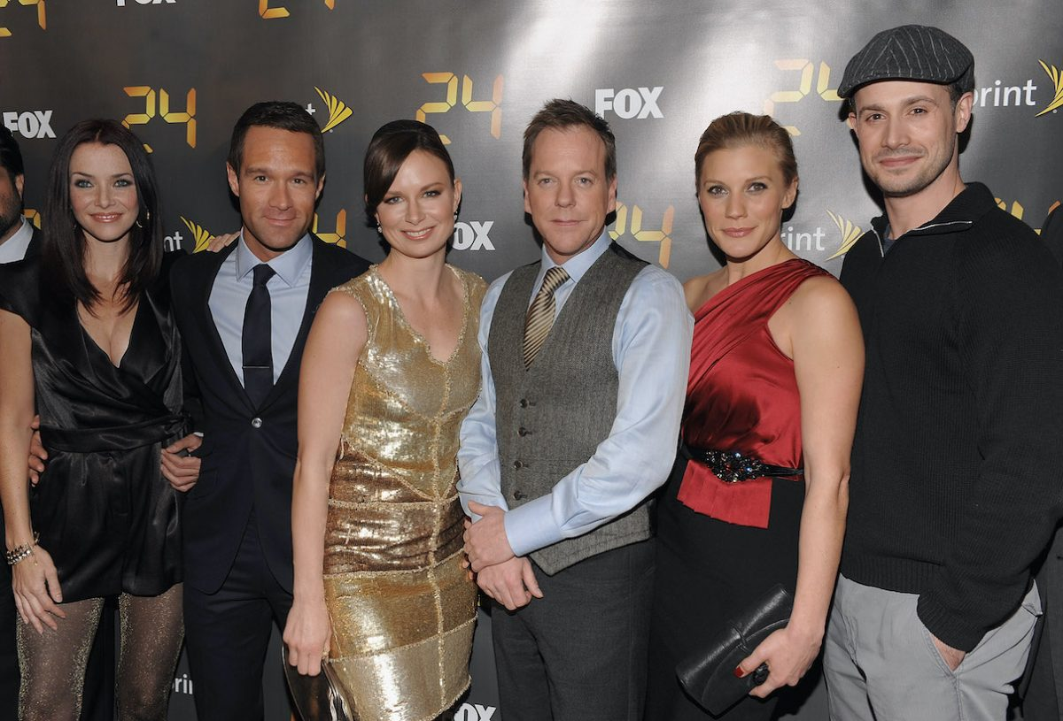 Annie Wersching, Chris Diamantopoulos, Mary Lynn Rajskub, Kiefer Sutherland, Katee Sackhoff, and Freddie Prinze Jr. at the '24' Season 8 premiere
