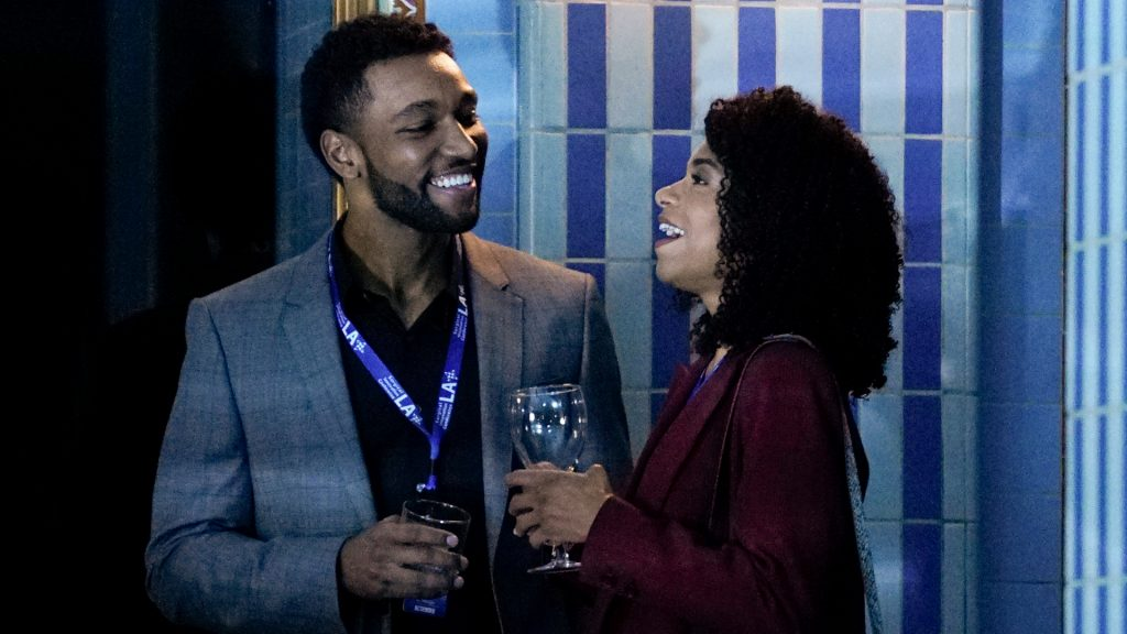 Anthony Hill as Winston and Kelly McCreary as Maggie on 'Grey's Anatomy' Season 16