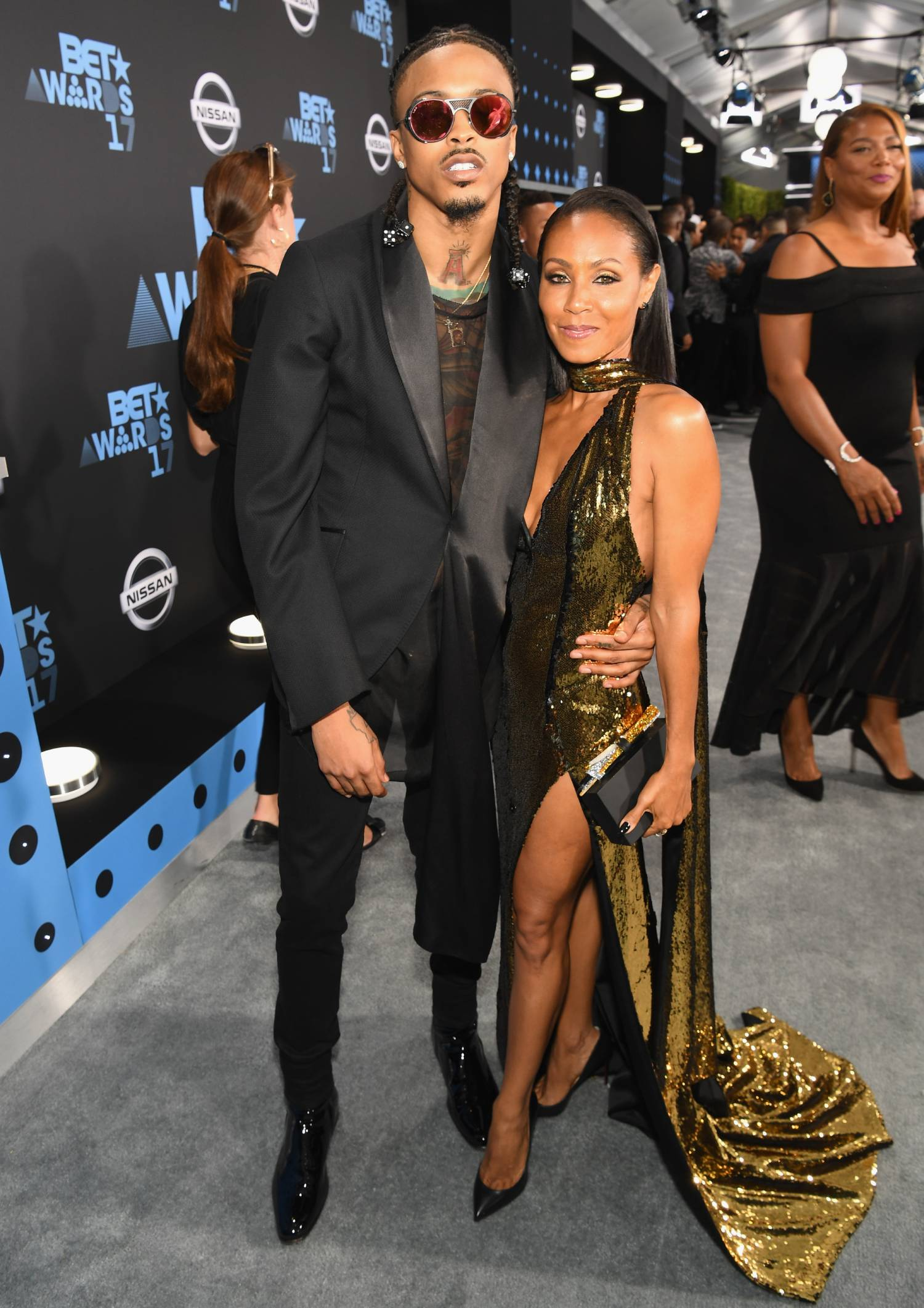 August Alsina (L) and Jada Pinkett Smith at the 2017 BET Awards at Staples Center on June 25, 2017 in Los Angeles, California.