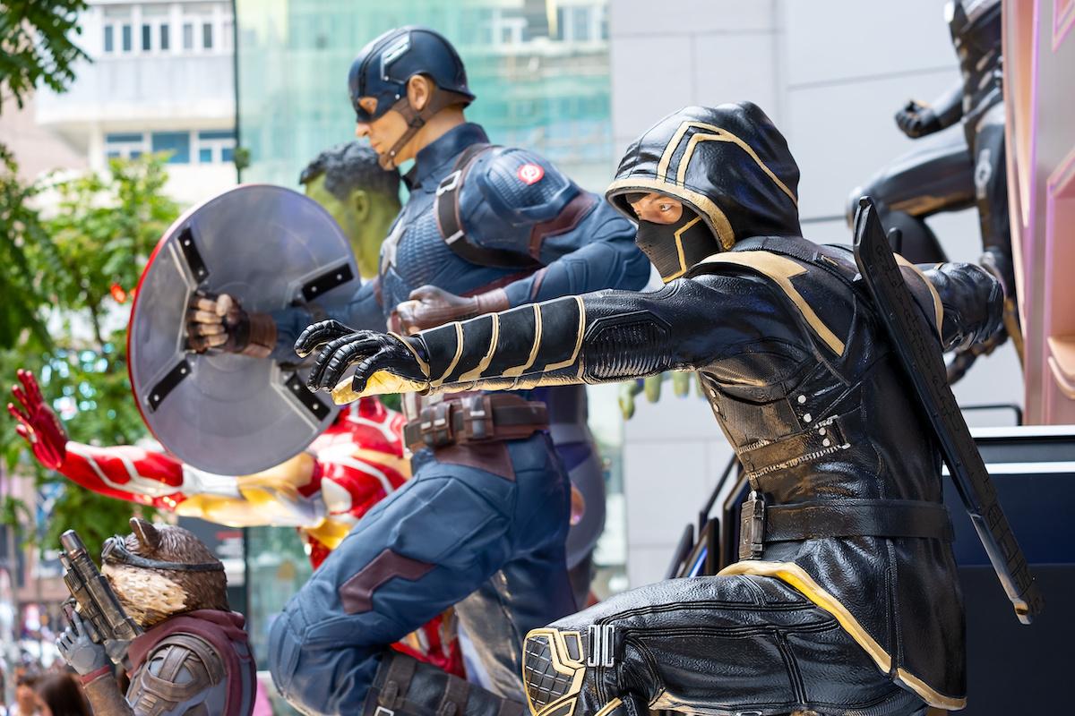 'Avengers: Endgame' character model in Hong Kong
