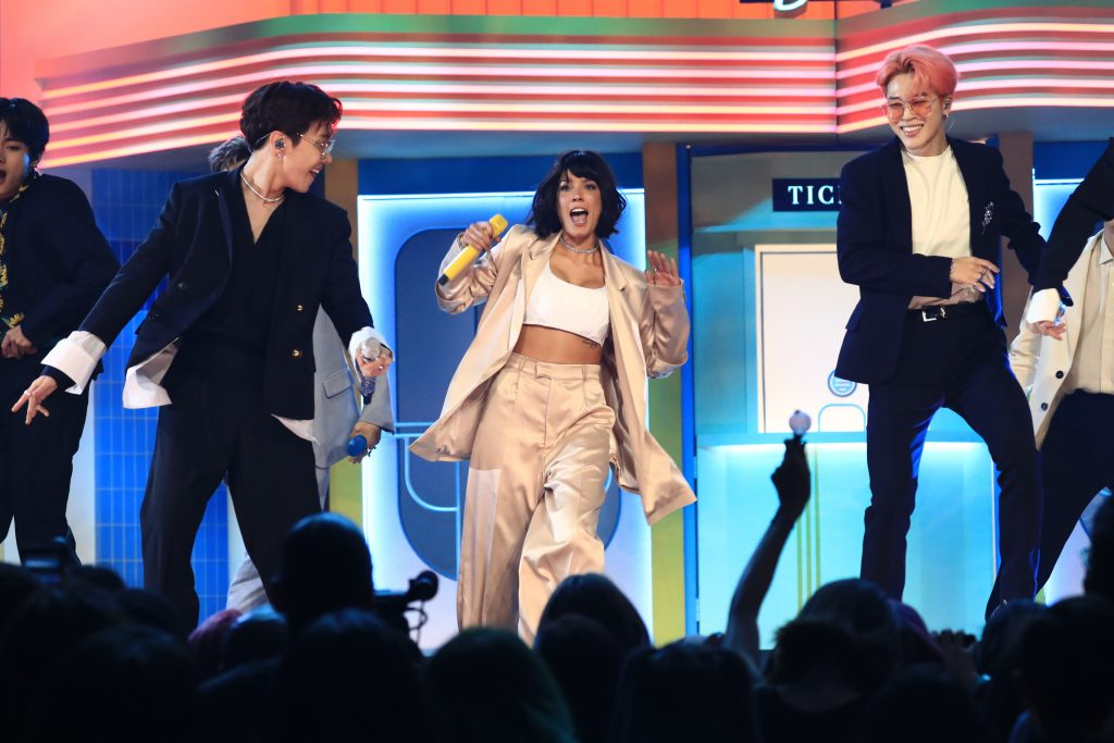 Halsey and BTS Performing at the 2019 Billboard Music Awards