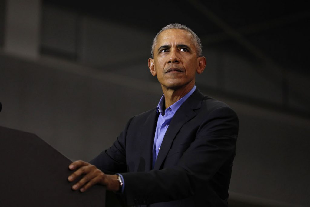 Former President Barack Obama speaks at a rally to support Michigan democratic candidates at Detroit Cass Tech High School on October 26, 2018 in Detroit, Michigan   Bill Pugliano/Getty Images