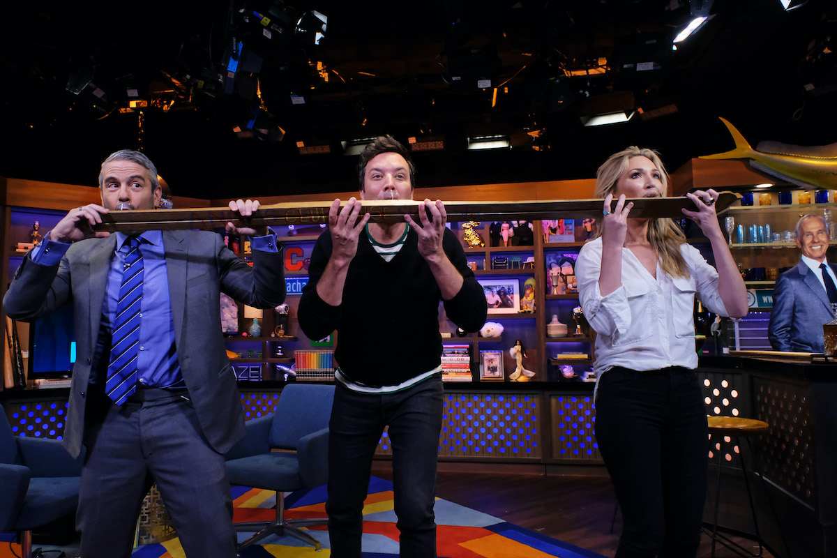 Andy Cohen, Jimmy Fallon, Kate Chastain