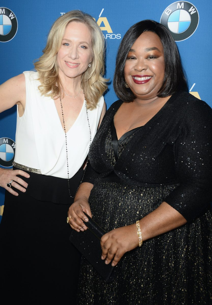Betsy Beers and Shonda Rhimes attend the 2014 Directors Guild of America Awards
