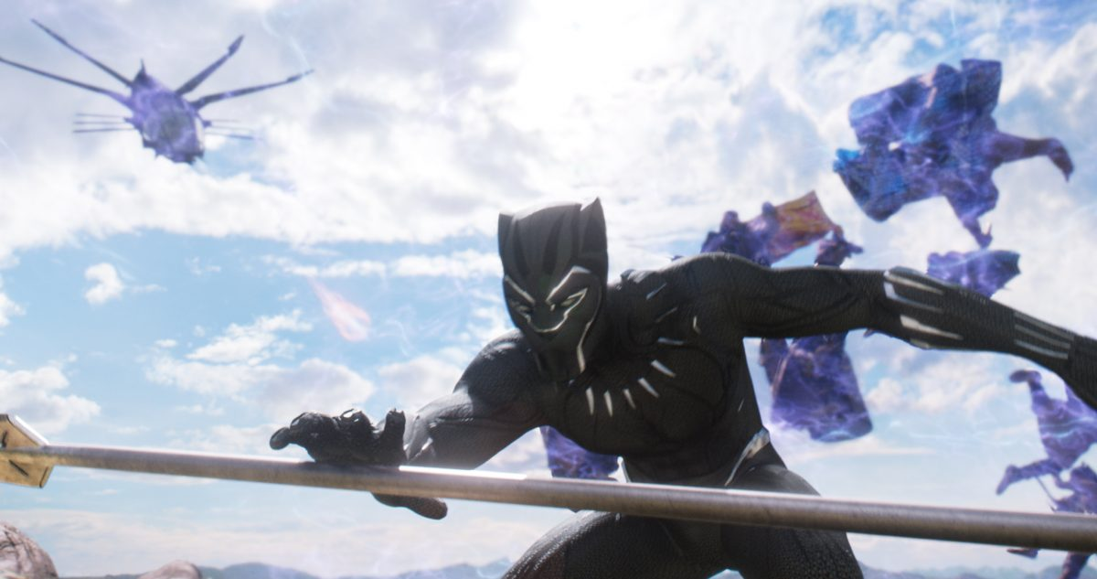 Black Panther in costume