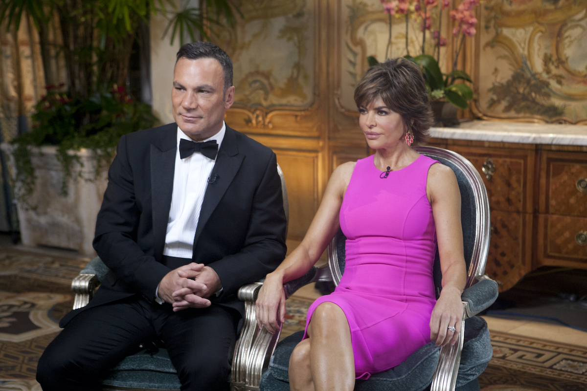 "Jonathan Antin and Lisa Rinna during an interview with ""Today"" show co-hosts Al Roker and Ann Curry"