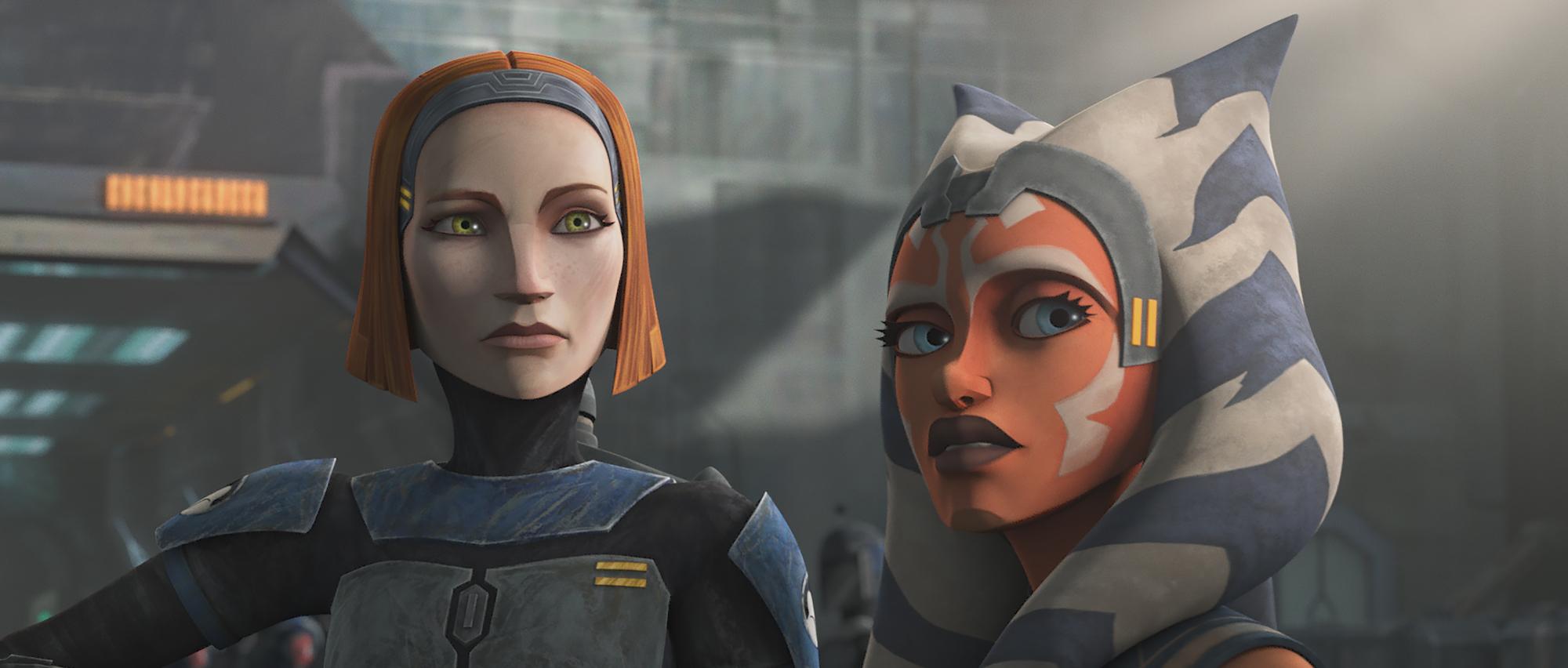 Bo-Katan and Ahsoka Tano in Season 7 of 'Star Wars: The Clone Wars'