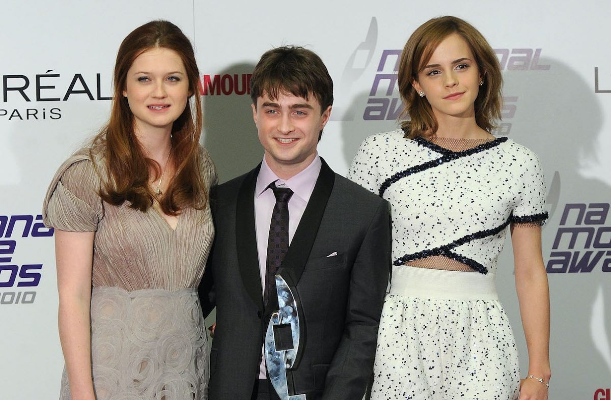 Bonnie Wright, Daniel Radcliffe, and Emma Watson at the 2010 National Movie Awards